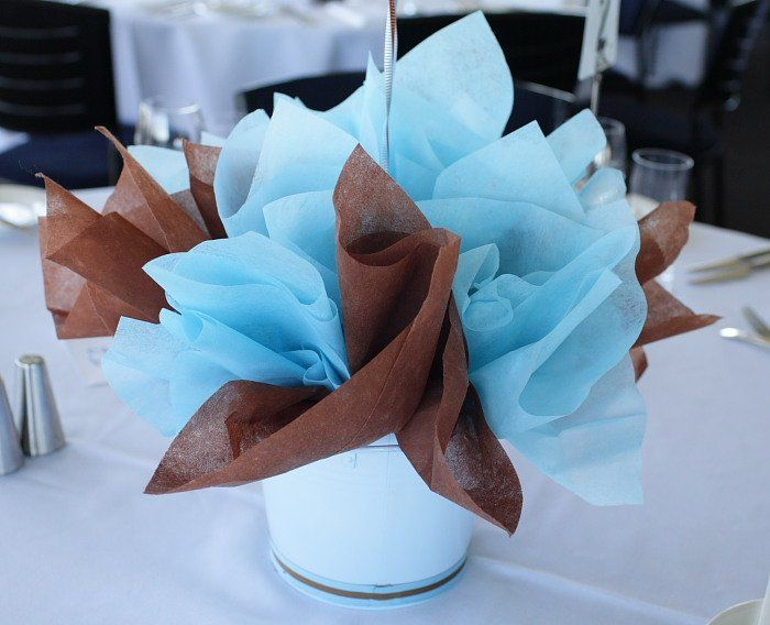 Best Table Baptism Centerpieces Blue Brown Table Centerpiece This Month
