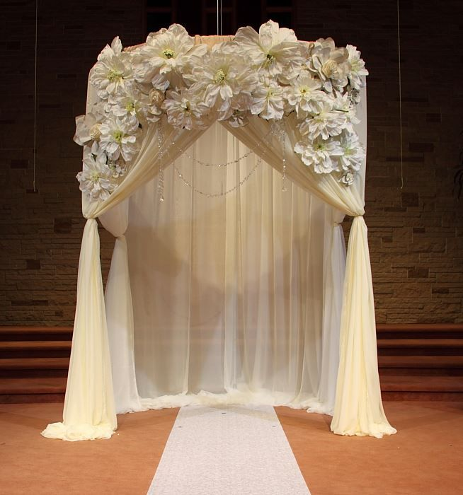 Best Wedding Ceremony Draped Arch Decorations Ceremony This Month