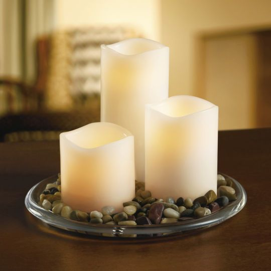 Best Ashland Wax Touch Led Pillar Candle Set With Remote The This Month