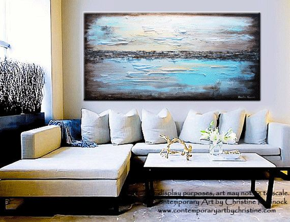 Best Original Art Abstract Painting Modern Blue Textured This Month
