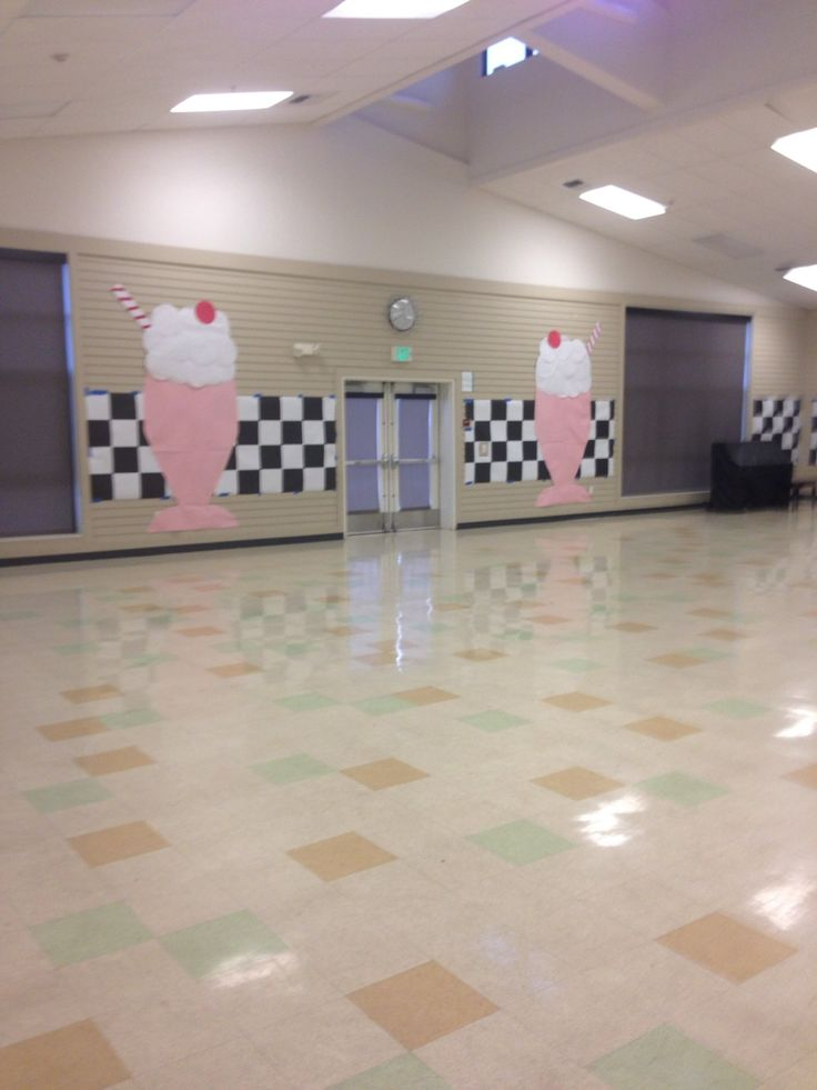 Best 50'S Sock Hop Decorations Paper Milkshakes For Sock Hop This Month