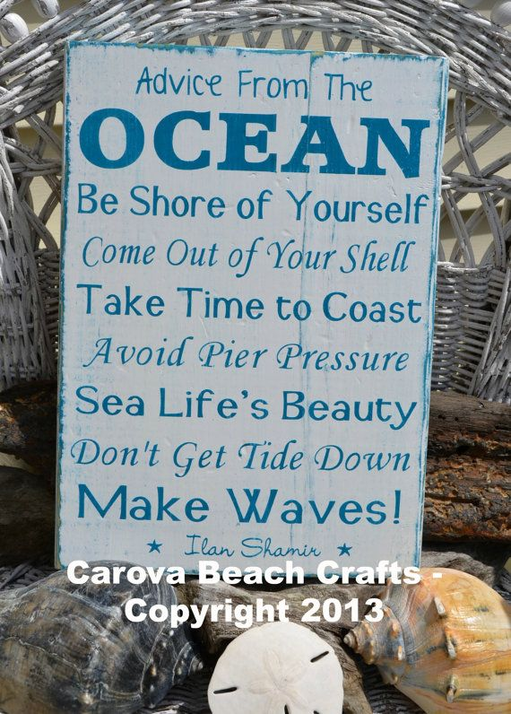 Best Beach Decor Sign Beach House Advice From The Ocean This Month