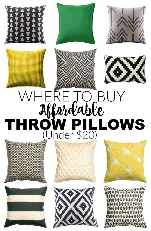 Best Affordable Places To Buy Throw Pillows For Under 20 This Month