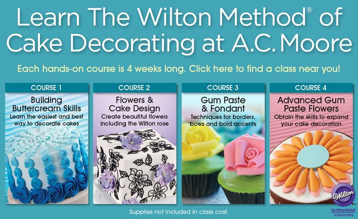 Best Craft And Cake Decorating Classes At Ac Moore Scout This Month