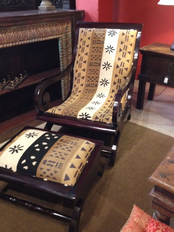 Best African Chairs Plantation Chair Ottoman Custom This Month