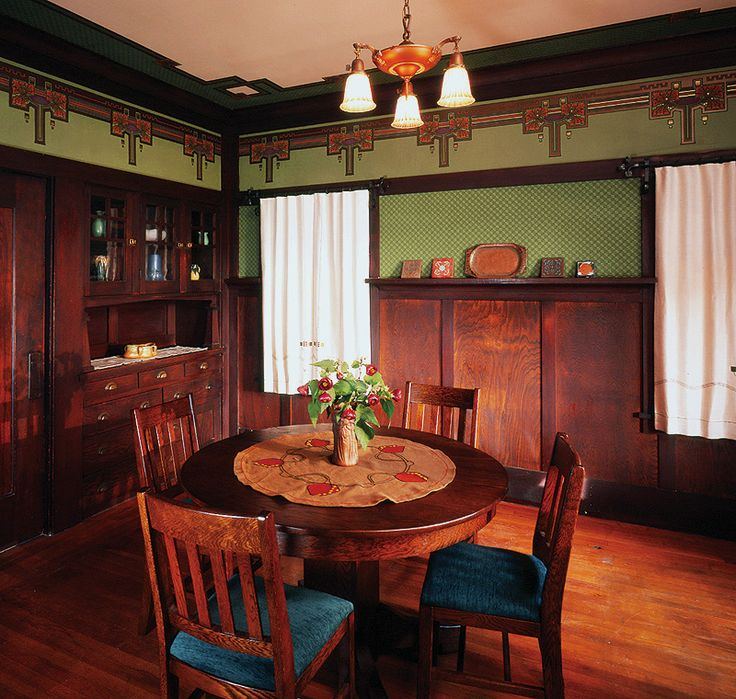 Best Arts And Crafts Bungalow Interiors Arts Crafts Dining This Month