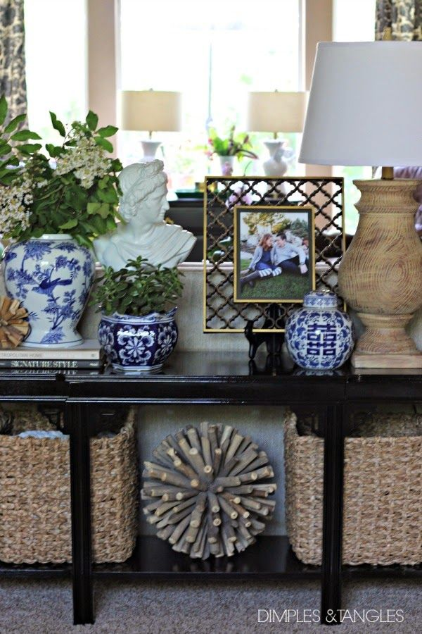 Best 25 Sofa Table Styling Ideas On Pinterest Entry This Month