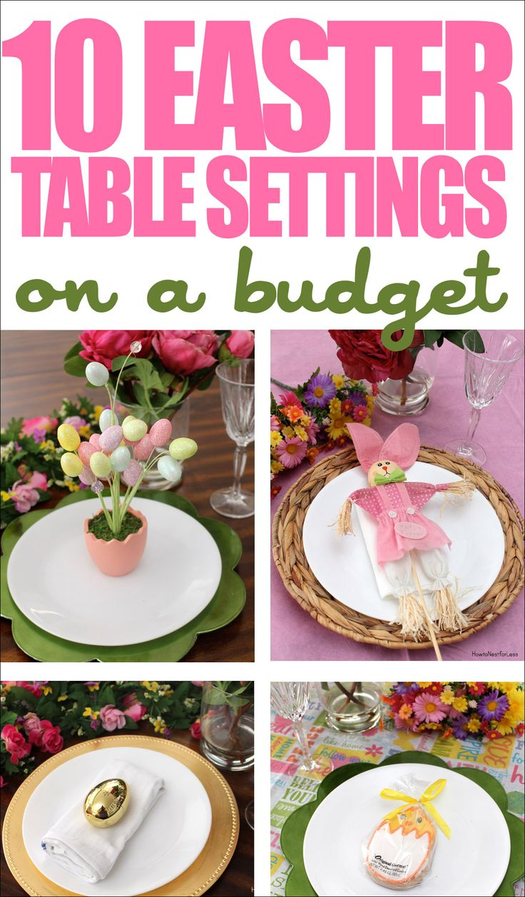 Best 10 Easter Table Setting Ideas On A Budget Dollar General This Month
