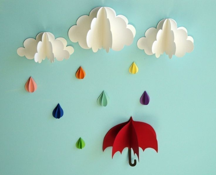 Best Rain Shower Mobile Wall Hanging Baby Sprinkle This Month