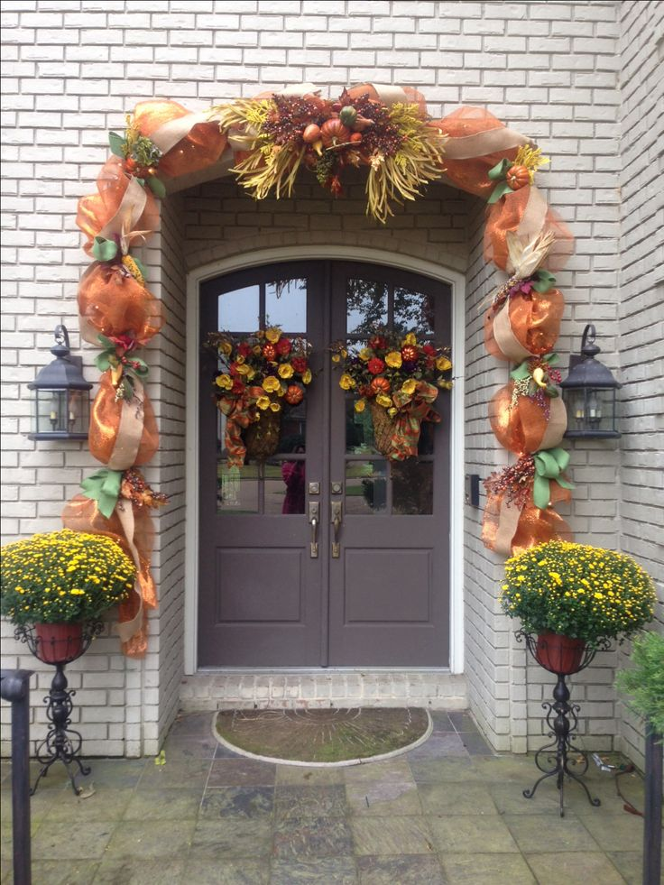 Best Thanksgiving Fall Outdoor Deco Mesh Garland My Decor For This Month