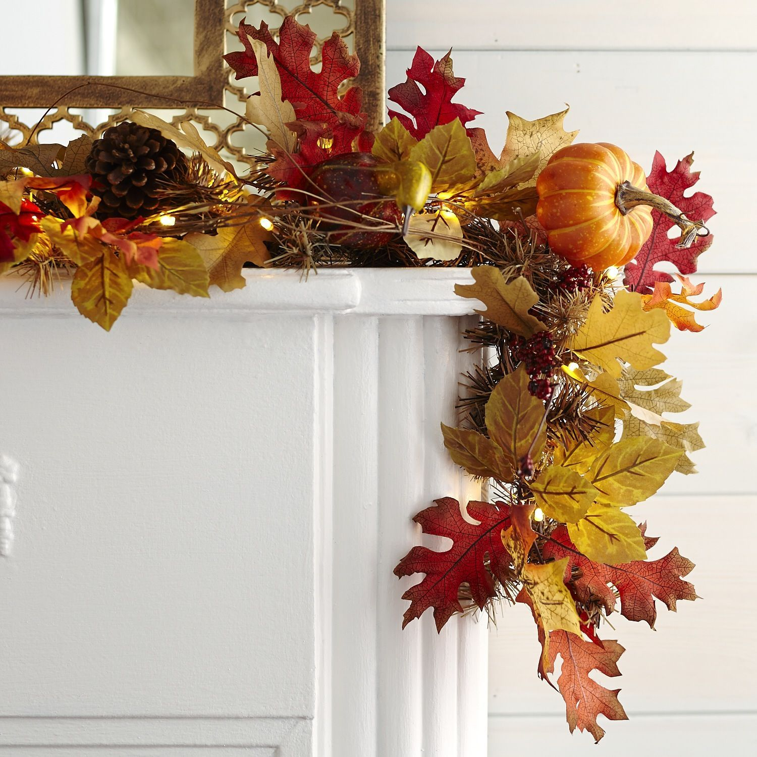 Best Faux Maple Leaves Pre Lit Garland Pier 1 Imports Fall This Month