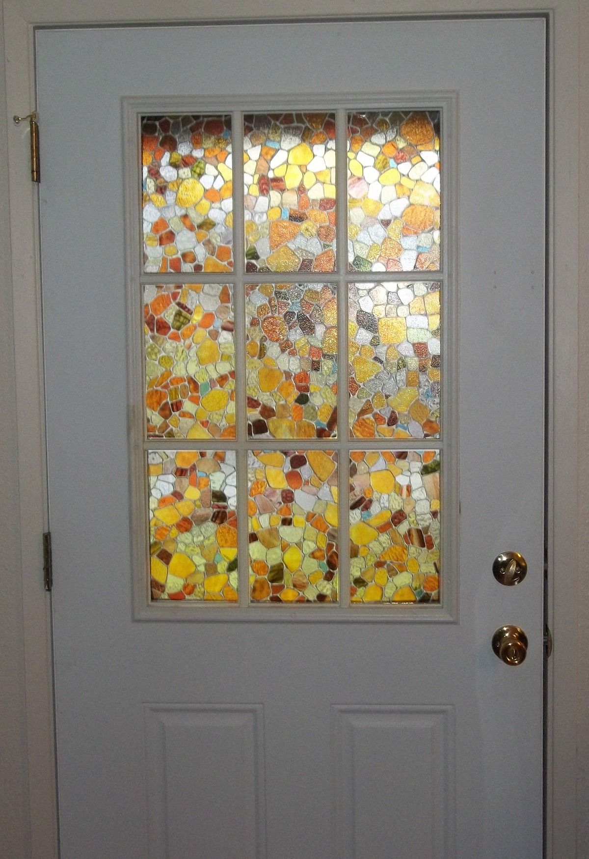 Best Fake Stained Glass Panels On My Front Door Light Effects This Month