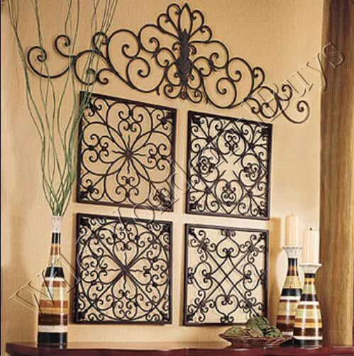 Best S 4 Square Wrought Iron Wall Grille Decor Medallions This Month