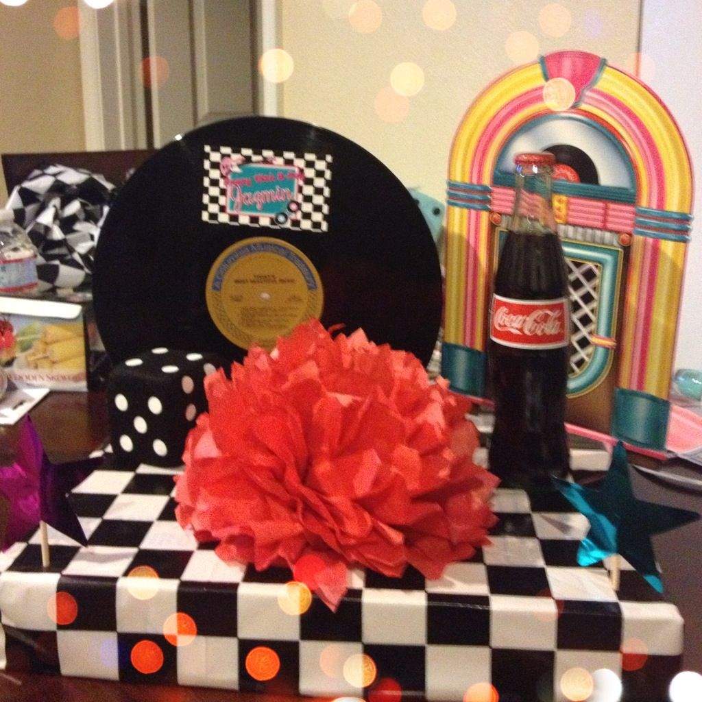 Best 50 S Theme Centerpiece Birthday 1950 S 1950S Party This Month
