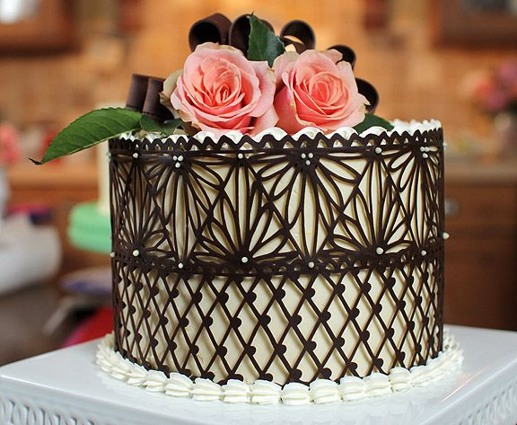 Best Chocolate Lace Cake On Pinterest Chocolate Decorations This Month