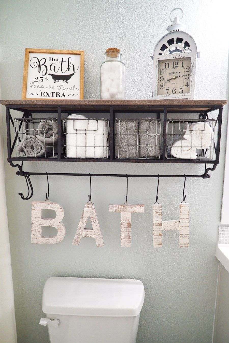 Best Full Bathroom Makeover With Floors And Paint Sw Sea Salt This Month