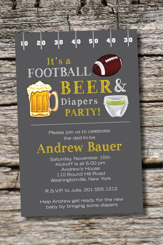 Best Football Beer Diapers Bbq Beer And Babies Diaper Party This Month