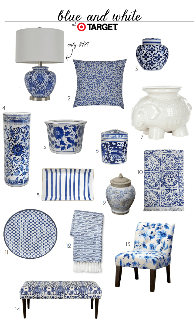 Best Blue And White Finds At Target Target Bench And Pillows This Month