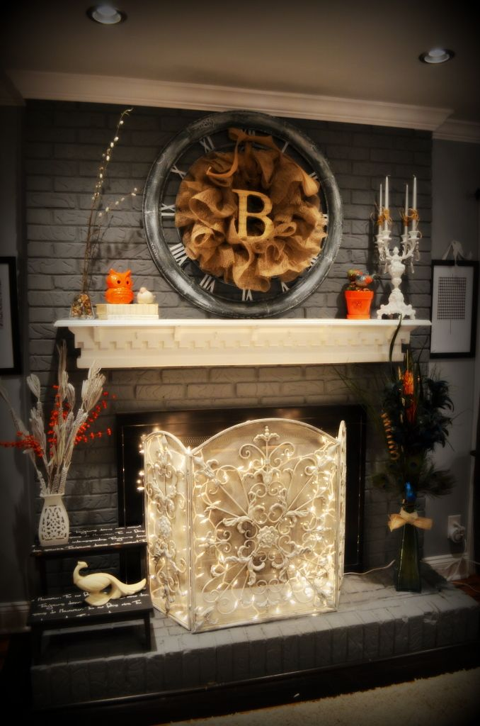 Best Brick Fireplace Decor On Pinterest Cleaning Brick This Month