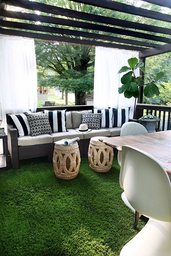 Best The Artificial Grass Is Always Greener On A Deck Outdoor This Month