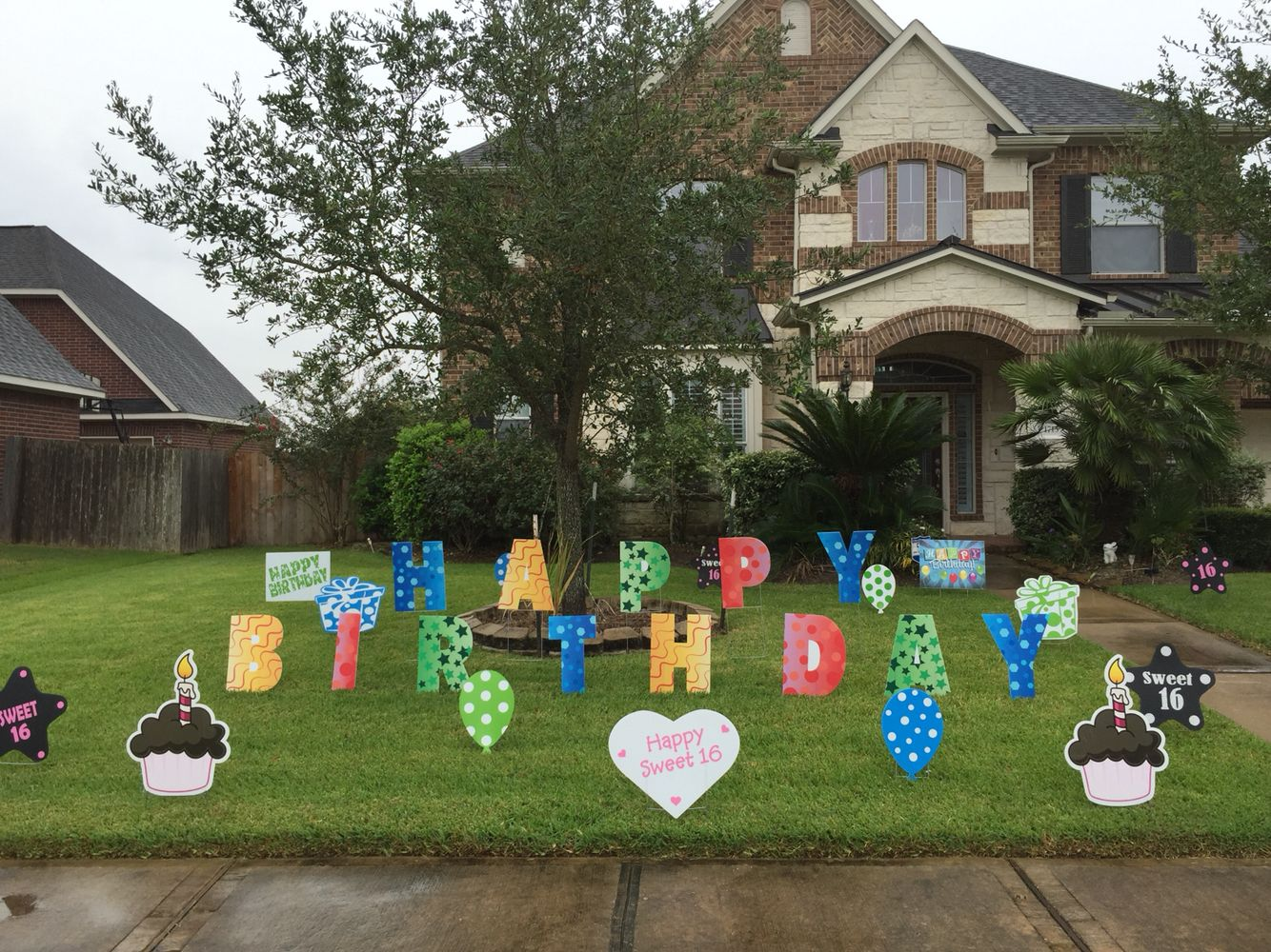 Best Happy Birthday Lawn Letters With Other Yard Decor Signs This Month