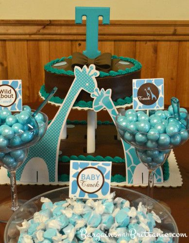 Best Decorate The Dessert Table With A Turquoise And Brown Baby This Month