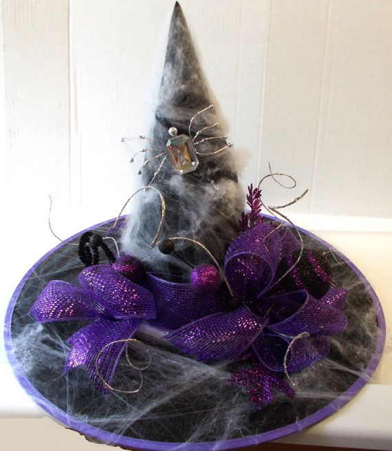 Best Black Purple Bling Spider Witch Hat Glitter Spiderwebs This Month