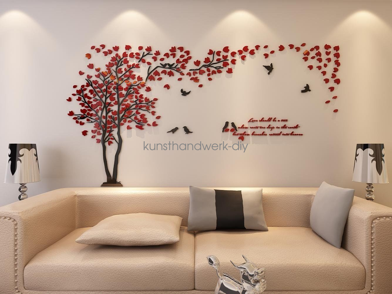 Best Us Couple Tree 3D Wall Stickers Living Room Bedroom Mural This Month
