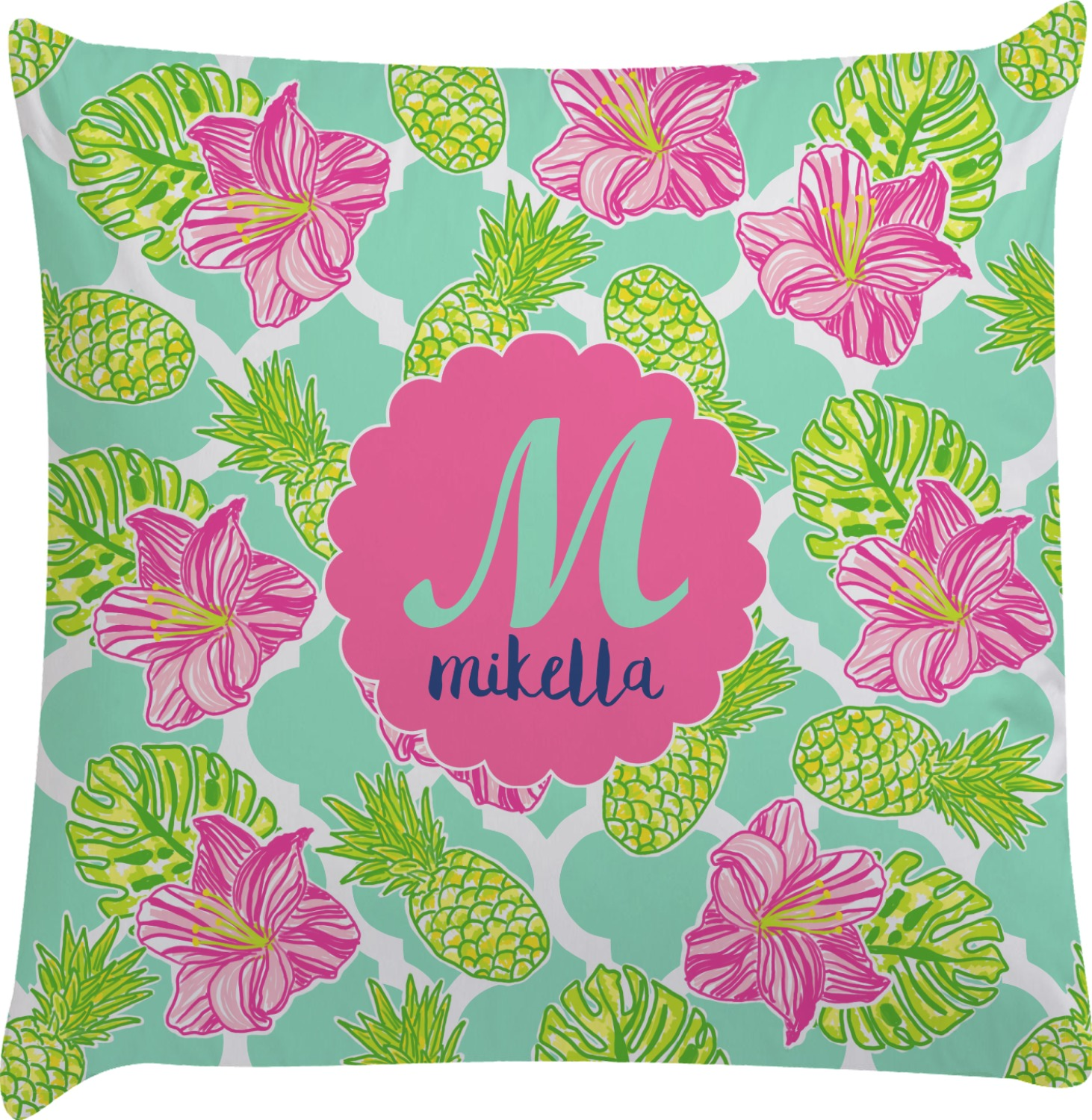 Best Preppy Hibiscus Decorative Pillow Case Personalized This Month