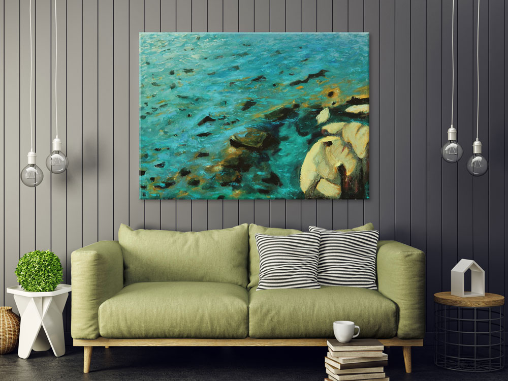 Best Beach House Wall Art Canvas Print Cristallino This Month