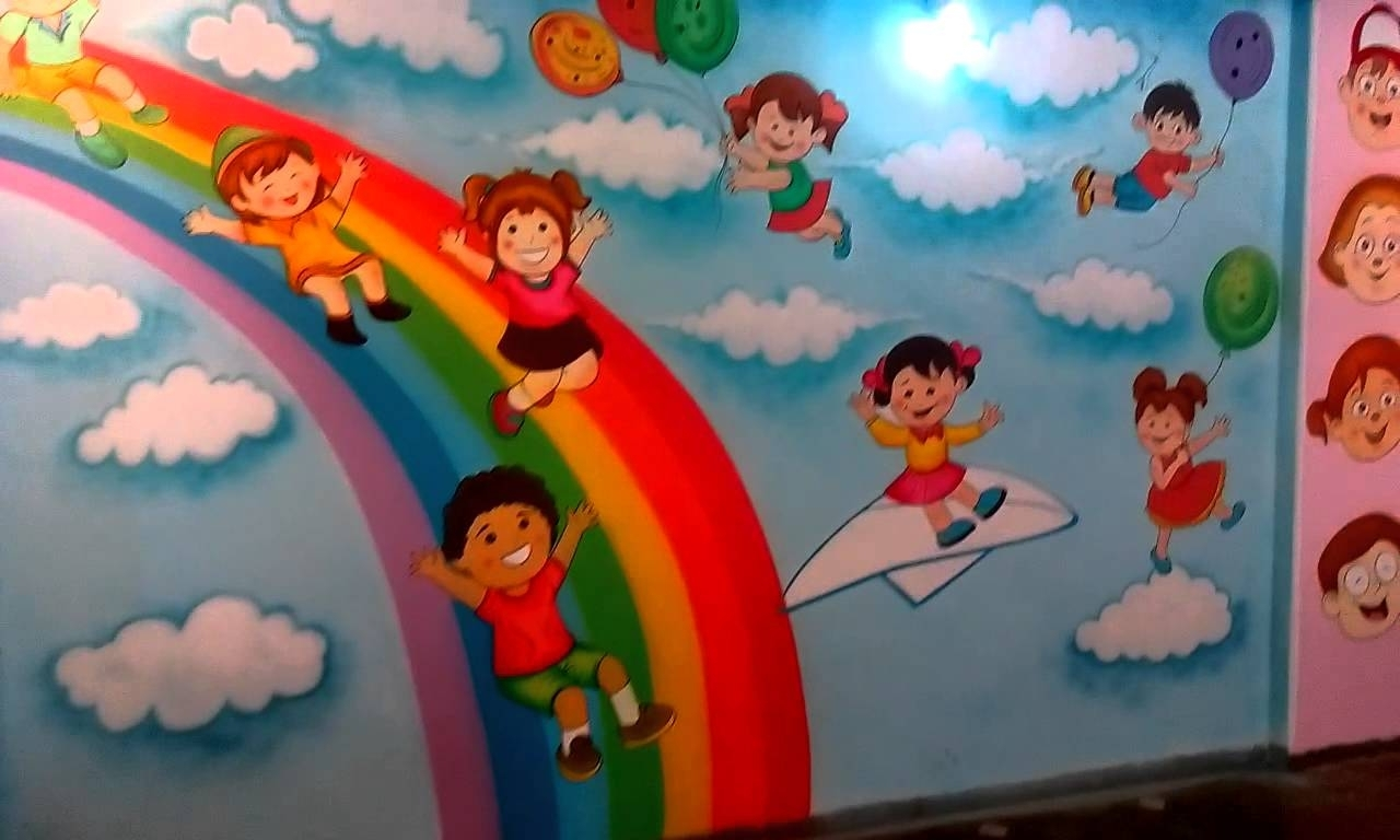 Best Fantastic Preschool Wall Painting Images Decoration Ideas This Month