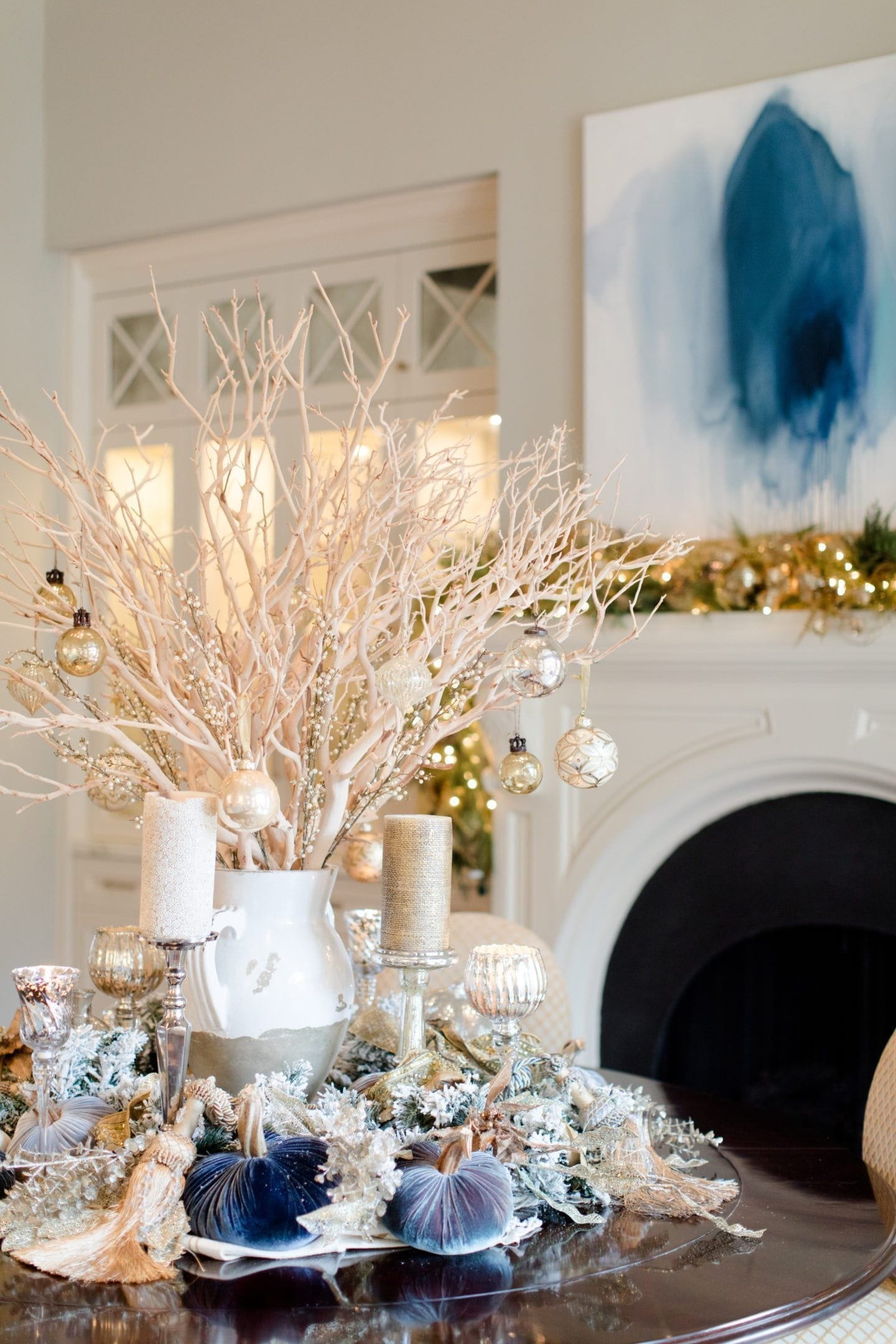 Best Blue Christmas Decorating Ideas A Tour Of Our Home This Month