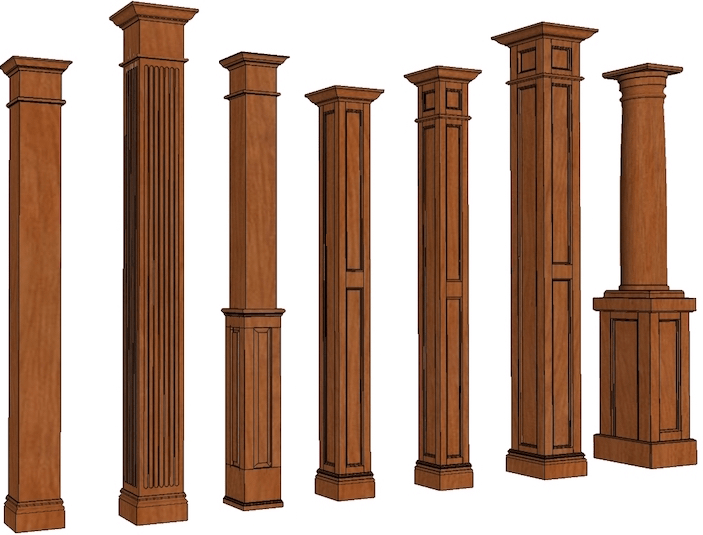 Best Stain Grade Columns Square Wood Columns I Elite Trimworks This Month
