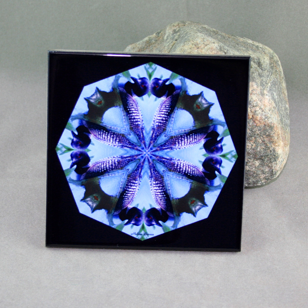 Best Loon Decorative Ceramic Tile Coaster Kaleidoscope Trivet This Month