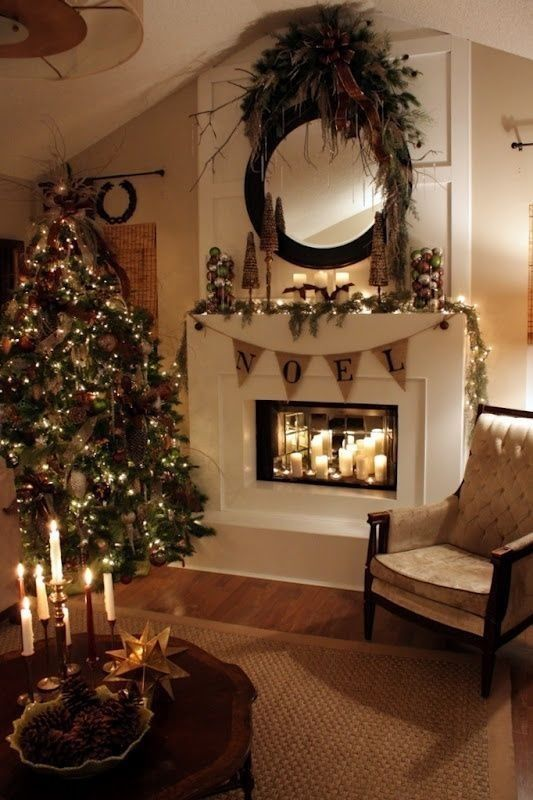Best Beautiful Living Room Decorated For Christmas Pictures This Month
