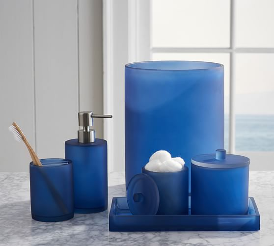 Best Serra Mix And Match Bath Accessories Navy Blue Pottery This Month