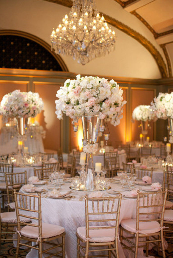 Best Elegant White And Gold Wedding Reception Tablescapes This Month