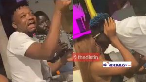 See Bullet's Reaction As Shatta Wale K!sses Wendy Shay in Front Of Him[VIDEO]
