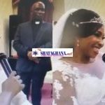 Kyeiwaa 'kills the English language' at her white wedding during the exchange of vows (Video)