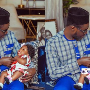 """Picture of a man cuddling Tracey Boakye's daughter raises allegations of the """"Papa Nu"""""""