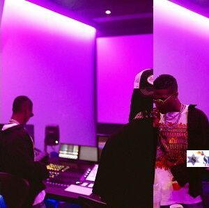 Fans Go Gaga As Photo Of Wizkid and Burna Boy In The studio Hits Online