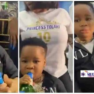 Little Boy Shocks Everyone As He Consumes Full Bottle Of Beer | Watch