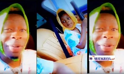 Father Love; Watch The Beautiful Moment Shatta Wale And His Son Majesty Drove Around Town In His Brand New BMW 7 Series | Video