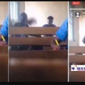 """""""I Can Pay Your Salary For 25 Years"""" – SHS 3 Boy Fights WAEC Invigilator During Exams (Video)"""