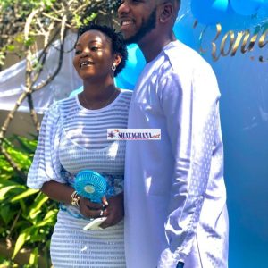 Aaron Adatsi And His Girlfriend, Eyram, Christen Their Son – Adjetey Anang And Prince David Osei Grace The Event | Video