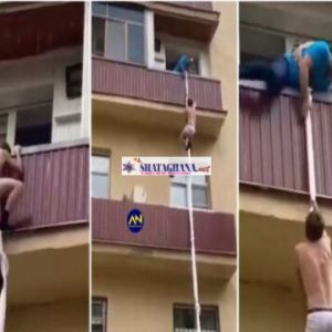 Watch Video: Man Runs For his life after he was caught red-handed chopping someone's wife