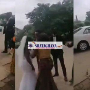 Heartbroken lady flees on her wedding day after finding out her groom slept with her friend (Video)