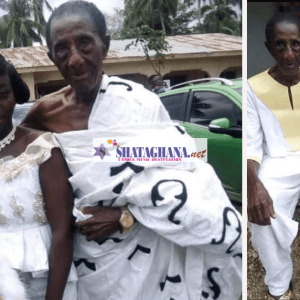 Lady Who Married 97-Year-Old Man Finally Speaks; Says The Man Makes Her Happy In Bed | Video