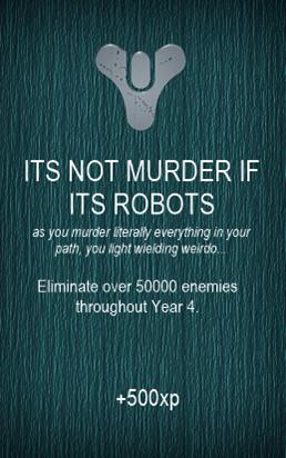 ITS NOT MURDER IF ITS ROBOTS