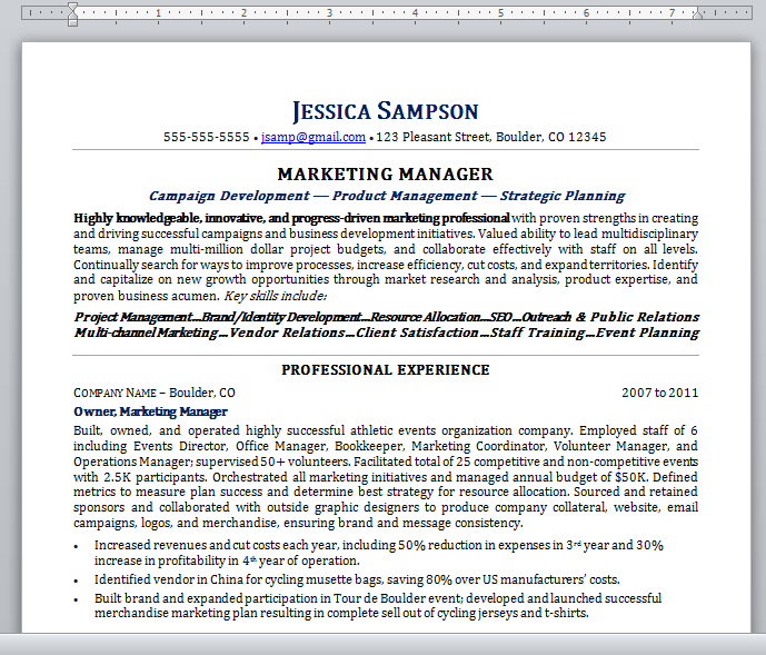 Copy And Paste Resume Template  shatterlioninfo